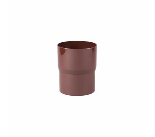 Соединитель трубы Profil 100 мм коричневый