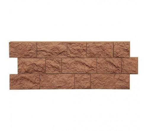 Фасадная панель Docke FELS скала 1,15х0,45 м терракотовый