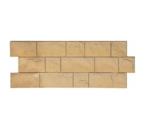 Фасадная панель Docke FELS скала 1,15х0,45 м слоновая кость