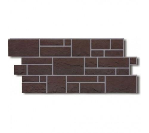 Фасадная панель Docke BURG камень 1,072х0,472 м земляной