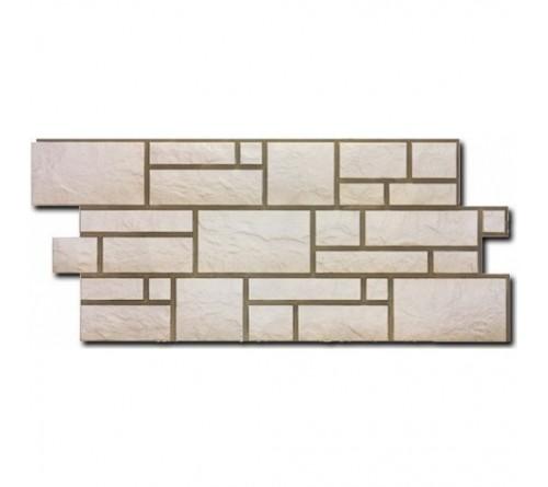 Фасадная панель Docke BURG камень 1,072х0,472 м белый